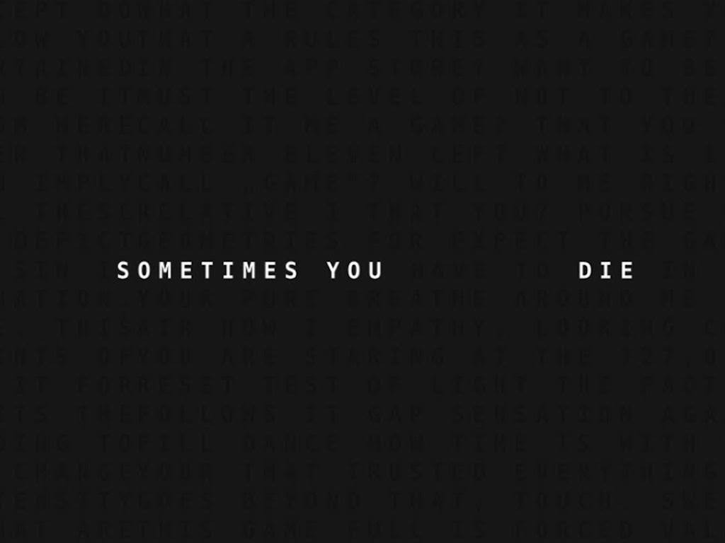 Sometimes You Die 01